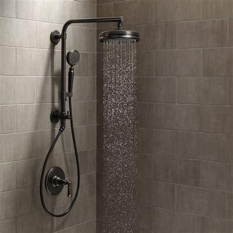 Kohler Brushed Bronze Bathroom Faucets by Kohler Artifacts Hydrorail Custom Shower System 2bz Oil