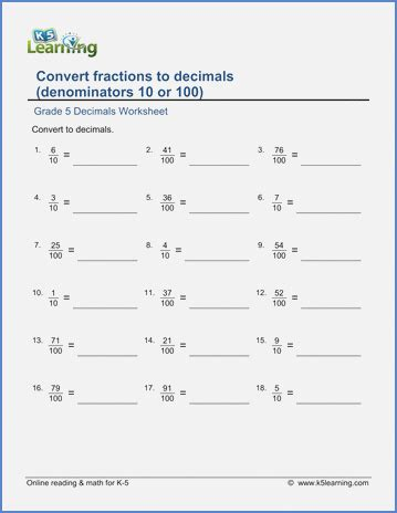 convert fractions to a decimal dailypoll co