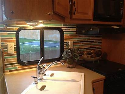 Rv Remodel Paint Tile Trailer Faux Camper