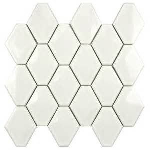 merola tile prism glossy white 10 1 2 in x 11 in x 6 mm