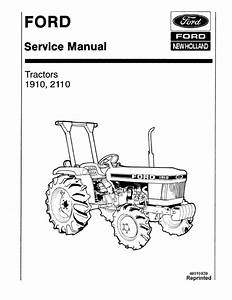Ford Tractor 1910 2110 Workshop Service Manual