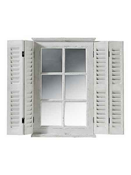 heine home spiegelfenster als wanddeko   wohnzimmer