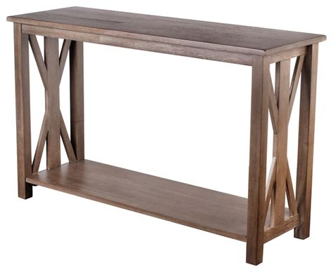 farmhouse style console table shop houzz vibrant furnishings rustic farmhouse style