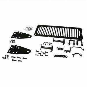 Kentrol 50470 Hood Kit Black Powder Coated Stainless  Jeep Cj  U0026 Wrangler Yj 1978