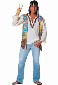 Men's Hippie Costume Shirt | Men's 1960's Hippie Fancy ...