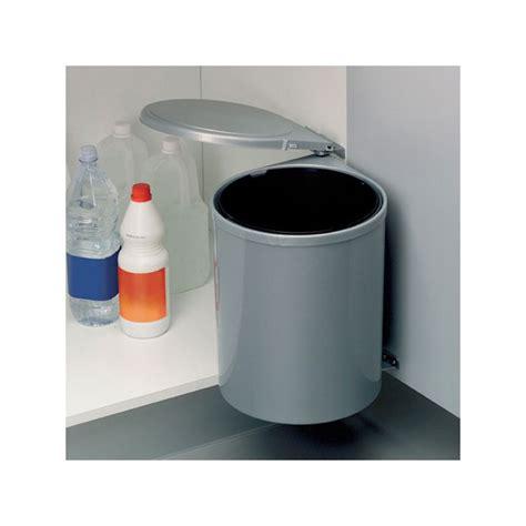 poubelle cuisine plastique poubelle cuisine pivotante 1 bac 13 litres gris
