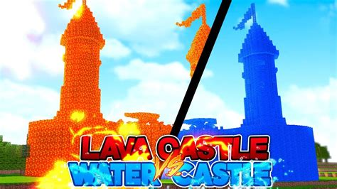 minecraft water house  lava house castle addition youtube