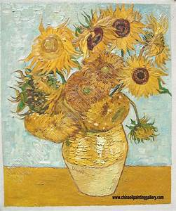 The sunflowers - Van Gogh - oil painting reproduction ...