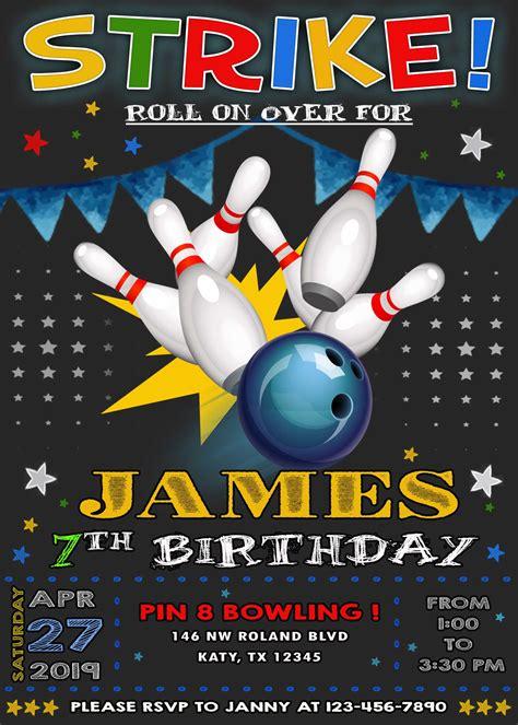 Bowling Party Birthday Invitation oscarsitosroom