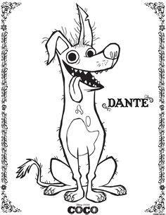 Free Disney Pixar Coco Dante Coloring Page | Disney