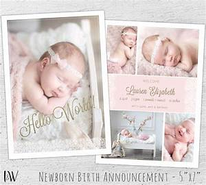 newborn announcement template photoshop template new With baby birth announcements templates for free