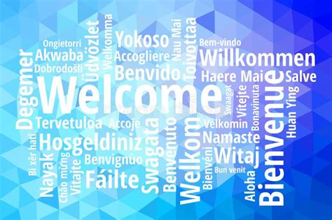 Welcome Phrase In Different Languages Stock Illustration ...
