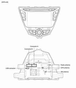 Hyundai Elantra  Avn Head Unit  Components And Components