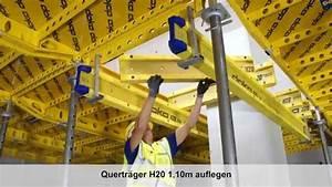 Doka Träger Kaufen : element deckenschalung dokadek 30 ausgleich bei betonst tzen mit h20 tr ger de youtube ~ Orissabook.com Haus und Dekorationen