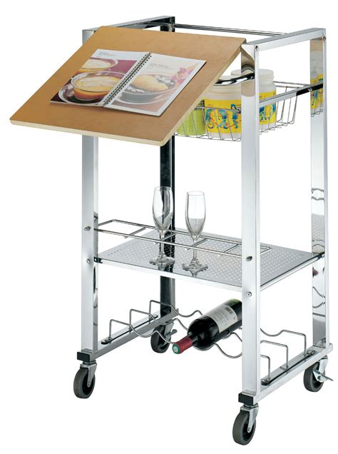 kitchen storage trolley trolley service kitchen cart 4 tier wheels storage serving 3193