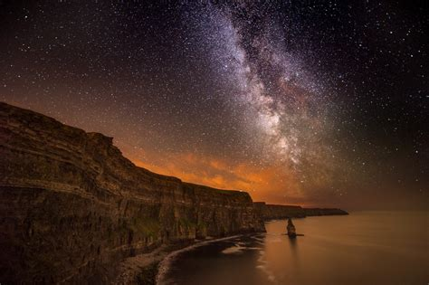 cliff  moher milky  night george karbus photography