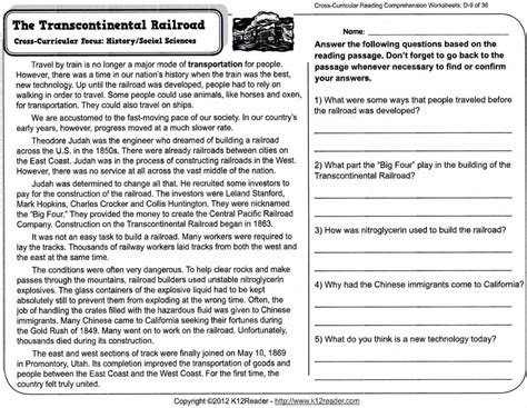 Best Comprehension Worksheets With Questions  Premium Worksheet