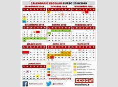 Feccoocyl Calendario escolar 20182019