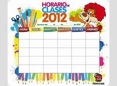 Más horarios para el curso escolar School Timetables