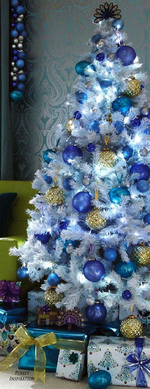 blue christmas decor ideas  pinterest blue