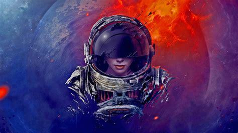 astronaut, space, 3D, CGI, women :: Wallpapers