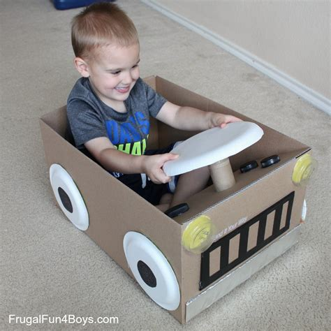 box car for kids create a cardboard box car