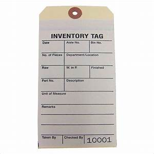 inventory tags 2 part carbonless inventory tag 2 part With custom inventory tags
