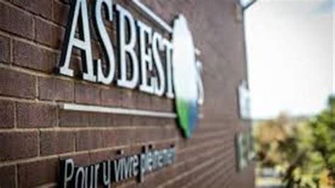 asbestos annulation des activites  des ventes de
