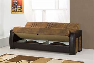 Deborah ares suede rusty micro suede sofa bed by kilim for Kilim sofa bed