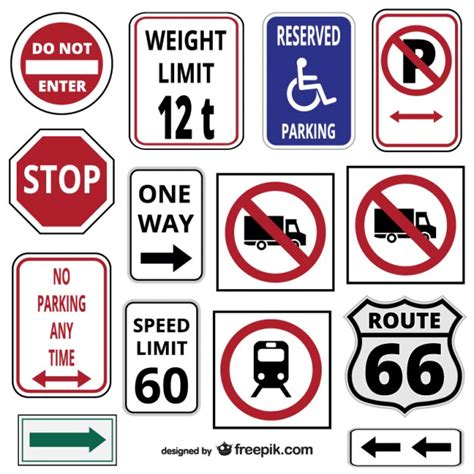 Download your collections in the code format compatible with all browsers, and use icons on your website. Traffic signs and symbols Vector   Free Download