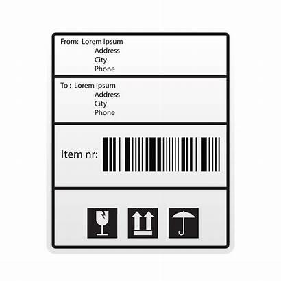 Etichetta Spedizioni Label Spedizione Vecteezy Barre Codice