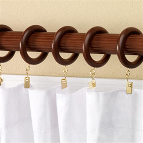 intercrown decorative wood fluted curtain rod 1 3 8