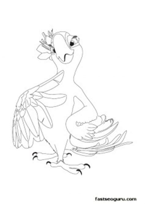 printable cartoon jewel rio coloring pages  kids printable coloring pages  kids