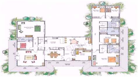 U Shaped Home Designs Australia : House Plans U Shaped Floor Plan