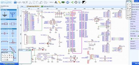 best free electrical schematic software easyeda