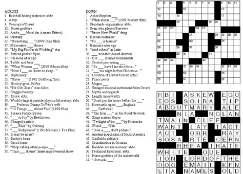 A 13x13 Sample Crossword Puzzle That Gcv Has Successfully