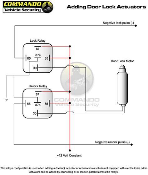 door solenoid wiring diagram need some help with door actuator and shock sensor install