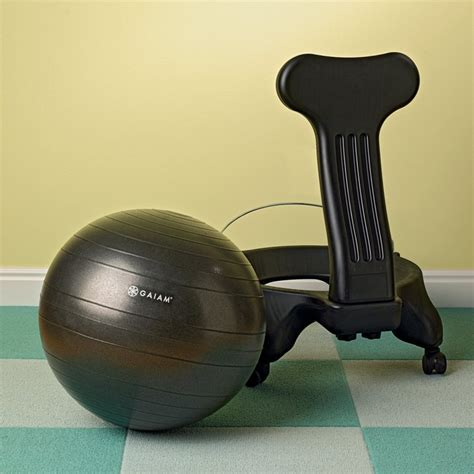 gaiam balance ball chair with pump www