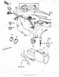 Kawasaki Motorcycle 1978 Oem Parts Diagram For Chassis
