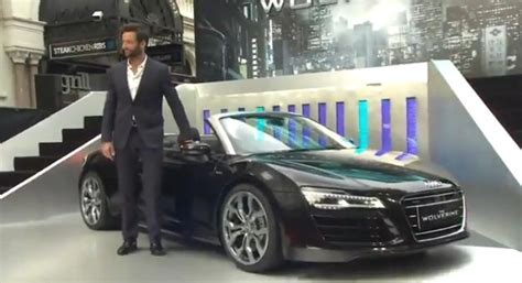 Watch Hugh Jackman And The Audi R8 Spider Shine At The