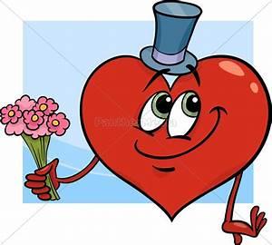 Herz Mit Blumen : valentine herz mit blumen cartoon lizenzfreies bild 10317817 bildagentur panthermedia ~ Frokenaadalensverden.com Haus und Dekorationen