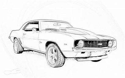 Coloring Camaro Pages Chevy Cars Printable Muscle