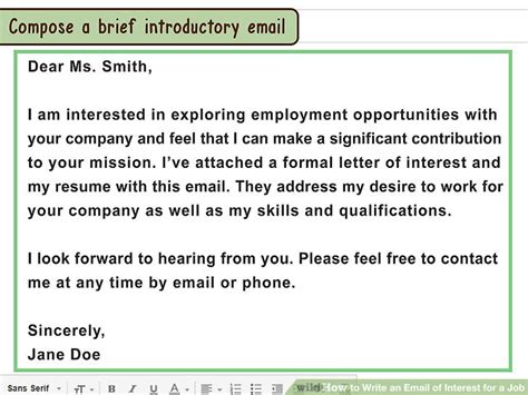 how to write an email of interest for a 13 steps