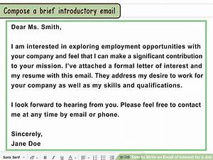 3 ways to write an email of interest for a job wikihow With how to write email for job
