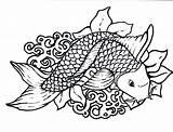 Fish Coloring Scale Scales Printable Template Thickness Drawings Sketch Disimpan Dari sketch template