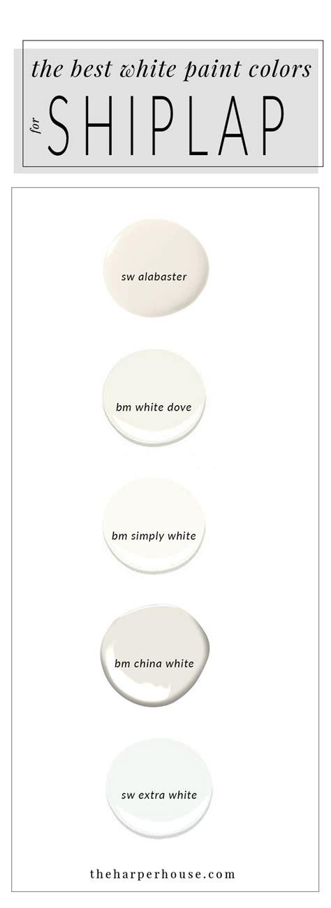 white paint colors white paint colors 5 favorites for shiplap the house