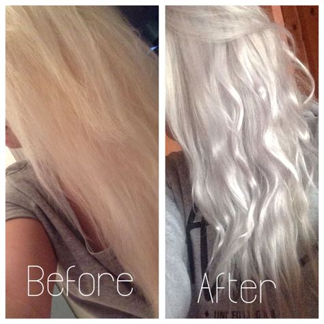 Silvergrey Hair Using Wella T18 Toner On Box Dyed Blonde