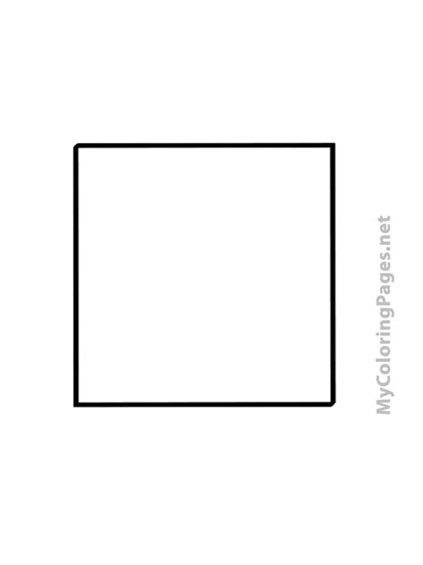 square coloring pages    print