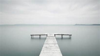 Dock Lake Minimalist Minimalism Wallpapers Misty Docks
