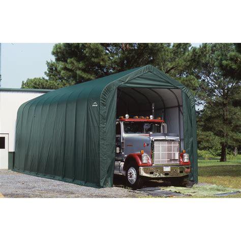 shelter garage shelterlogic peak style garage storage shelter 40ft l x